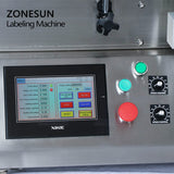 ZONESUN Double Side Round Bottle Labeling Machine For Disinfectants Beer Bottle Cans