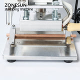 ZONESUN ZS-100A Custom Logo Hot Foil Stamping Machine Manual Bronzing Machine For PVC Card Leather Paper Pencil Stamping Machine - ZONESUN TECHNOLOGY LIMITED
