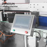 ZONESUN ZS-TB963 Double Side Flat Round Bottle Labeling Machine For Drinks Bottles - ZONESUN TECHNOLOGY LIMITED