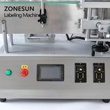 ZONESUN ZS-TB500A Double Side Round Bottle Label Applicator Positioning Labeling Machine