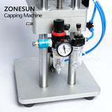 ZONESUN Pneumatic Perfume Oral Liquid Penicillin Injectable Bottle Capper Aluminum Plastic Glass Vial Crimper Capping Machine - ZONESUN TECHNOLOGY LIMITED