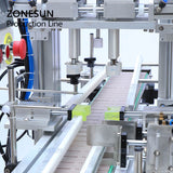 ZONESUN ZS-FAL180P6 Automatic Jar Honey Hand Cream Lotion Liquid Water Bottle Filling Capping And Labeling Machine