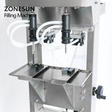 ZONESUN ZS-G400 Vacuum Liquid Perfume Filling Machine Milk For Water Eyewash Cosmetics - ZONESUN TECHNOLOGY LIMITED