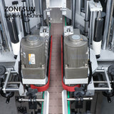 ZONESUN ZS-TB300M Automatic Double Side Sticker Square Flat Plastic Bottle Jar Labeling Machine