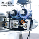 ZONESUN 10-1000g Large Capacity Automatic Filling Sealing Machine Food Coffee Bean Grain Power Bag Back Seal Packaging Machine