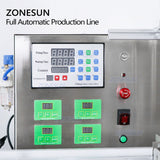 ZONESUN ZS-FAL180C3 Automatic Watercolor Essential Oil Eye Drop Liquid Vial Bottles Filling Capping And Labeling Machine