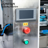 ZONESUN Semi Automatic Vial Round Small Glass Plastic Reagent Bottle Label Applicator Single Double Side Pen Labeling Machine