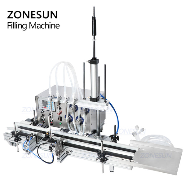 ZONESUN 4 Nozzles Magnetic Pump Automatic Desktop Liquid Filling Machine - ZONESUN TECHNOLOGY LIMITED