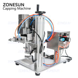 ZONESUN Small Desktop Bottle Capping Machine For Water Beverage Smoking Oil Bottles - ZONESUN TECHNOLOGY LIMITED