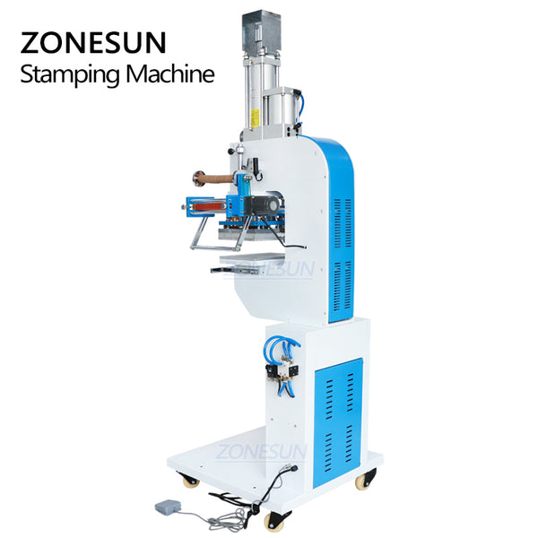 ZONESUN ZY-819SK Pneumatic Stamping Machine For Plastic Case Custom Logo Leather Stamping - ZONESUN TECHNOLOGY LIMITED