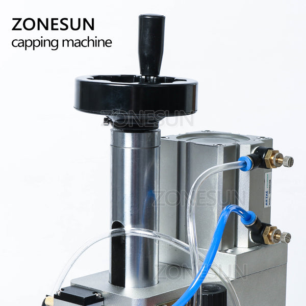 ZONESUN Pneumatic Oral Liquid Solution Penicillin Bottle Capper Aluminum Metal Plastic Medicine Vial Crimper Twist Off Machine - ZONESUN TECHNOLOGY LIMITED