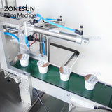 ZONESUN ZS-GF900C Rotary Water Milk Cup Liquid Coffee Capsule Filling Sealing Machine - ZONESUN TECHNOLOGY LIMITED
