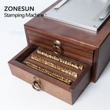 ZONESUN ZS-110C Digital Hot Foil Stamping Machine For Wood Leather Paper Custom Logo Stamp - ZONESUN TECHNOLOGY LIMITED