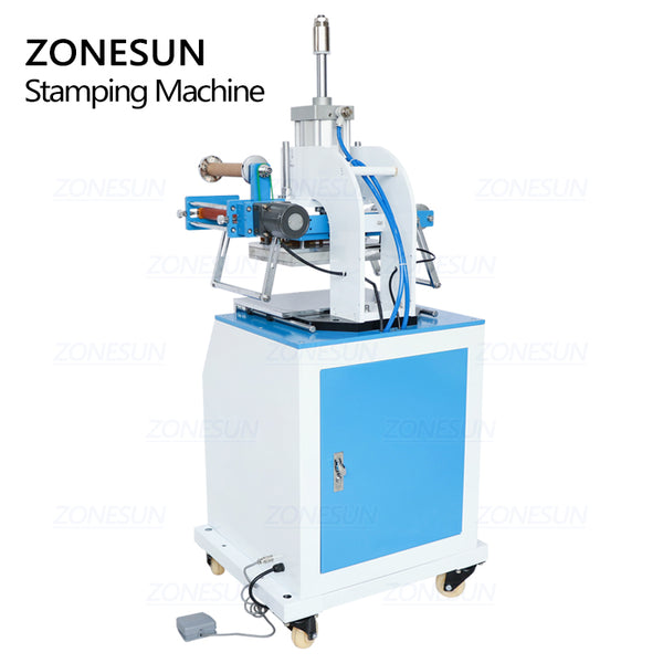 ZONESUN ZY-819D Pneumatic Stamping Machine For Leather Wood Burning Gift Card - ZONESUN TECHNOLOGY LIMITED