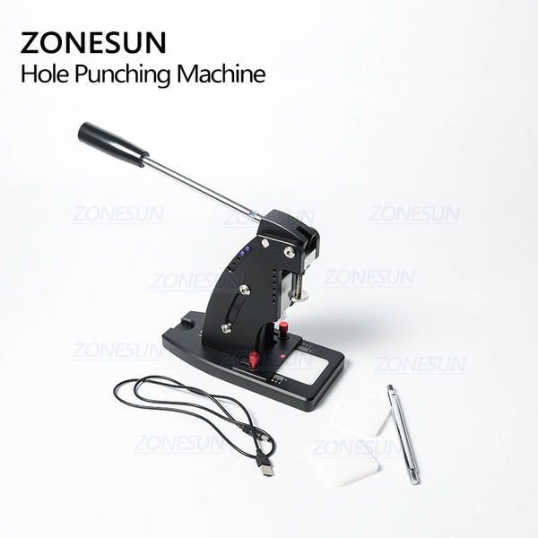 ZONESUN Manual Leather Punching Machine Hand Pressing Machine For Round Hole Puncher Leather Edge Punching Chisel Stitching Tool - ZONESUN TECHNOLOGY LIMITED