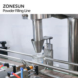 powder filling capping labeling machine
