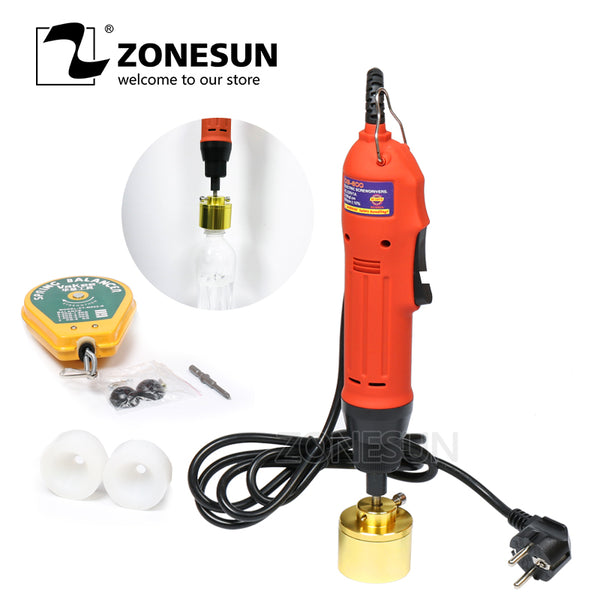 ZONESUN Electric Screwing Capping Tool Equipment Handheld Cap Pharmaceutical Bottle Capper (10-30mm) - ZONESUN TECHNOLOGY LIMITED
