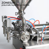 ZONESUN Automatic liquid filling machine hopper Cream Shampoo lotion oil honey food paste - ZONESUN TECHNOLOGY LIMITED