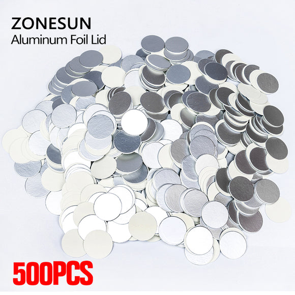 ZONESUN For induction sealing customized size plactic laminated aluminum foil lid liners 500pcs for PP PET PVC PS glass bottles - ZONESUN TECHNOLOGY LIMITED