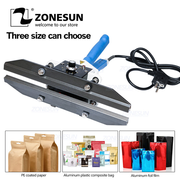 ZONESUN Hand Impulse Sealer Heat Sealing Aluminum Foil Bag Closer Sealer Sealing Machine - ZONESUN TECHNOLOGY LIMITED