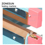 ZONESUN ZS-FK350 Foot Pedal Food Sealing Machine For Aluminium Foil Plastic Bags Sealer - ZONESUN TECHNOLOGY LIMITED