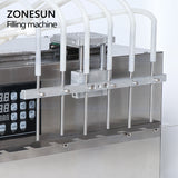 ZONESUN 6 Heads Stand-up Beverage  Bag Spout Pouch Liquid Filling Machine For Juice Water Milk - ZONESUN TECHNOLOGY LIMITED