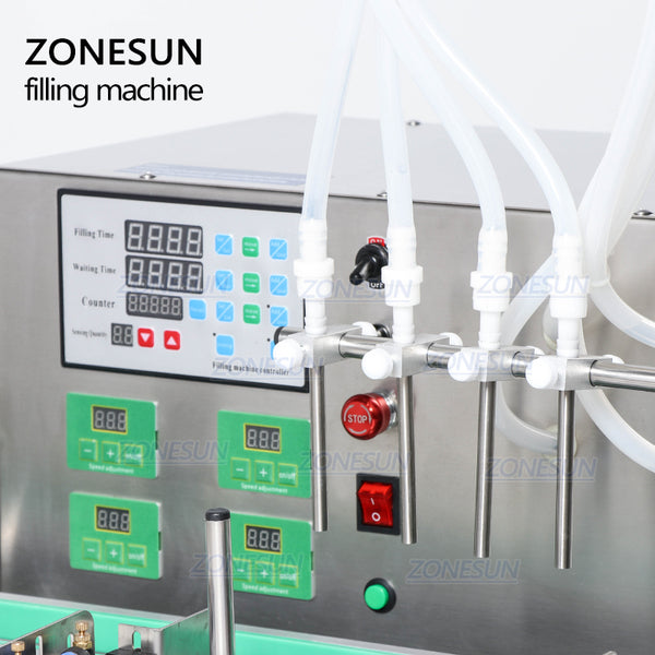 ZONESUN Full Automatic Desktop CNC Liquid Filling Machine With Conveyor 110V-220V For Perfume Filling Machine Water Filler - ZONESUN TECHNOLOGY LIMITED
