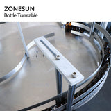 ZONESUN Automatic Round Rotary Plastic Glass Bottle Unscrambler Turntable Machine