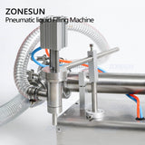 ZONESUN Piston Liquid Filling Machine For Water Beverage Juice Pefume - ZONESUN TECHNOLOGY LIMITED