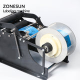 ZONESUN ZS-50P Manual Round Bottle Adhesive Sticker Label Applicator For PET Plastic Bottle Packing Labeling Machine - ZONESUN TECHNOLOGY LIMITED