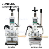 ZONESUN ZS-110 Digital Hot Foil Stamping Machine Leather Tool For Wood Paper Card Box - ZONESUN TECHNOLOGY LIMITED
