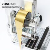 ZONESUN Hot Foil Stamping Machine Manual Bronzing Machine for PVC Card leather and paper stamping machine - ZONESUN TECHNOLOGY LIMITED