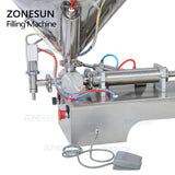 ZONESUN Single Nozzle Paste Filling Machine For Chocolate Sauce With Mixer Heater - ZONESUN TECHNOLOGY LIMITED