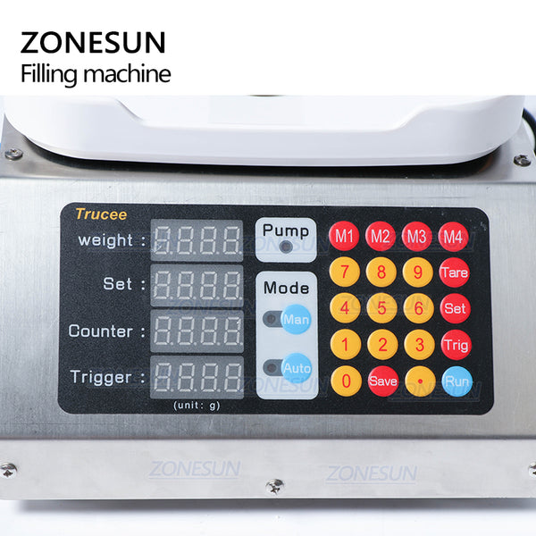 ZONESUN 0-50ml Small Automatic CNC Liquid Filling Machine 110V-220V Perfume Weighing Filling Machine Oral Liquid Solution Filler - ZONESUN TECHNOLOGY LIMITED