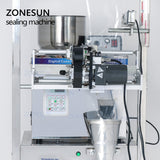 ZONESUN Food Coffee Bean Grain Automatic Weighing Packaging Machine Powder Filling Machine Bag Back Side Seal With Date Printer - ZONESUN TECHNOLOGY LIMITED