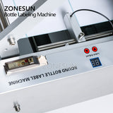 ZONESUN LT-50 Semi-automatic Round Bottle Labeling Machine For Food Cans Beverage - ZONESUN TECHNOLOGY LIMITED