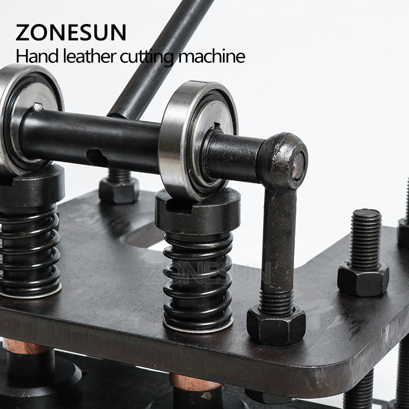 ZONESUN 2819cm Hand leather cutting machine DIY wallet bag photo paper  PVC/EVA sheet mold cutter leather Die cutting tool