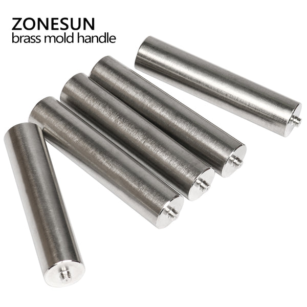 ZONESUN Stainless steel Hammering Handle for Leather Emboss (Cold Press), hammer Handle for Custom Leather Stamp(Hammering Handle) - ZONESUN TECHNOLOGY LIMITED