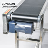 ZONESUN Ink jet Printer Conveyer Conveying Table Band Carrier Sorting Workbench PVC Belt Conveyor Bottle Box Bag Sticker Conveyor - ZONESUN TECHNOLOGY LIMITED