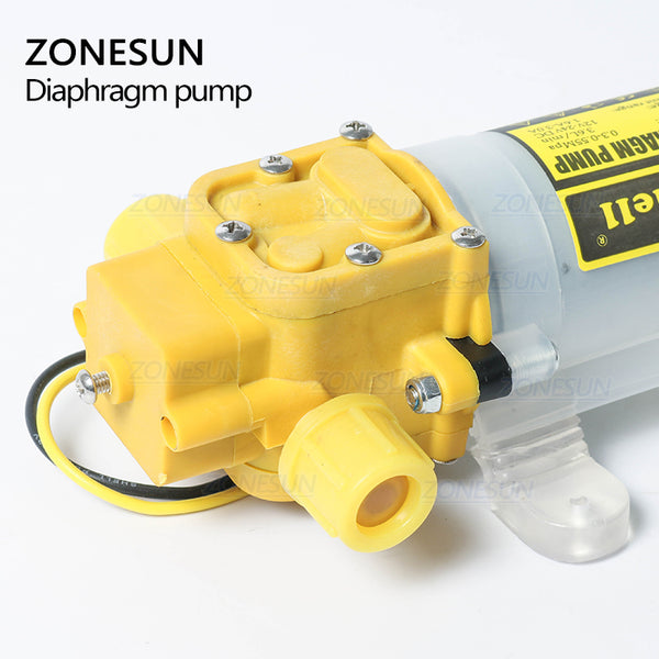 ZONESUN Diaphragm Water Pump For Filling Machine Small Safe High Pressure Self Priming Pump 3.6L/min - ZONESUN TECHNOLOGY LIMITED