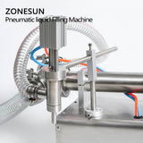 ZONESUN Pneumatic Automatic Liquid Filling Machine Water Milk Juice Oil Drink Gel - ZONESUN TECHNOLOGY LIMITED