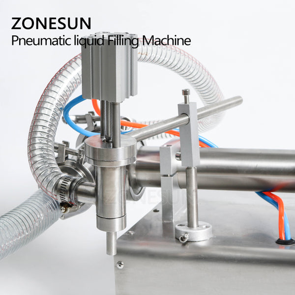 Pneumatic Piston Liquid Filler Shampoo Gel Water Wine Milk Juice Vinegar Coffee Oil Drink Detergent Filling Machine - ZONESUN TECHNOLOGY LIMITED