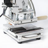 ZONESUN ZS110 slideable workbench Digital hot foil stamping machine leather embossing bronzing tool for wood PVC DIY Initial - ZONESUN TECHNOLOGY LIMITED