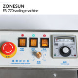plastic bag soild ink continuous band sealer sealing machine fr-770, Expanded food band sealer - ZONESUN TECHNOLOGY LIMITED