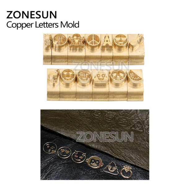 ZONESUN Custom Logo DIY T slot Copper Leather Wood Logo Stamp Mold Die Cut Soldering Iron Mold Set - ZONESUN TECHNOLOGY LIMITED