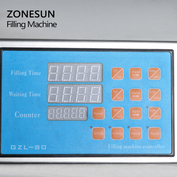 ZONESUN 6 Nozzle Liquid Filling Machine For Milk Juice Perfume Cooking Oil - ZONESUN TECHNOLOGY LIMITED
