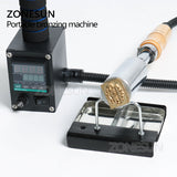 ZONESUN Handheld leather wood paper embossing tool hot stamping machine embossing for wedding cake logo embosser branding iron - ZONESUN TECHNOLOGY LIMITED