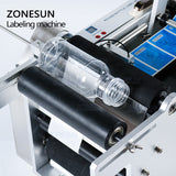 ZONESUN LT-50D Semi Automatic Round Bottle Labeling Machine For Hand Sanitizer Juice