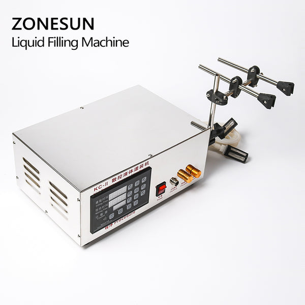 ZONESUN Double Heads Water Juice Bottle Microcomputer Automatic Liquid Filling Machine 3.5L - ZONESUN TECHNOLOGY LIMITED