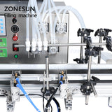 ZONESUN 4 Nozzles Peristaltic Pump Automatic Desktop Liquid Filling Machine - ZONESUN TECHNOLOGY LIMITED